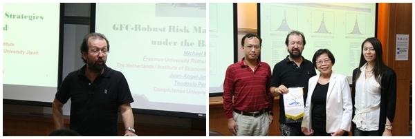 Michael McAleer 大師指導 全球金融危機之風險管理