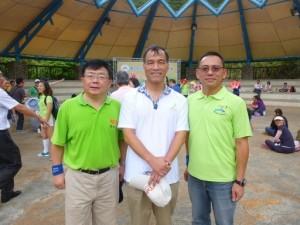 圖左至右:中山大學管理學院院長李清潭,交通部長葉匡時,中山北區EMBA校友會會長張世睿。