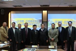 由左至右:張競、黃德成、李晧、徐忠國、李清潭院長、溫在春、淡志隆、雷祖綱、胡展豪