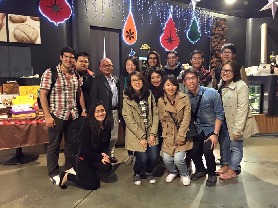 與IBMBA老師、同學聚餐