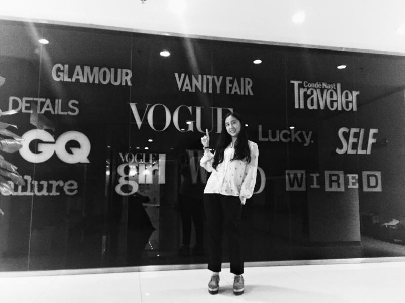 謝沛樺在時尚雜誌《 VOGUE》實習
