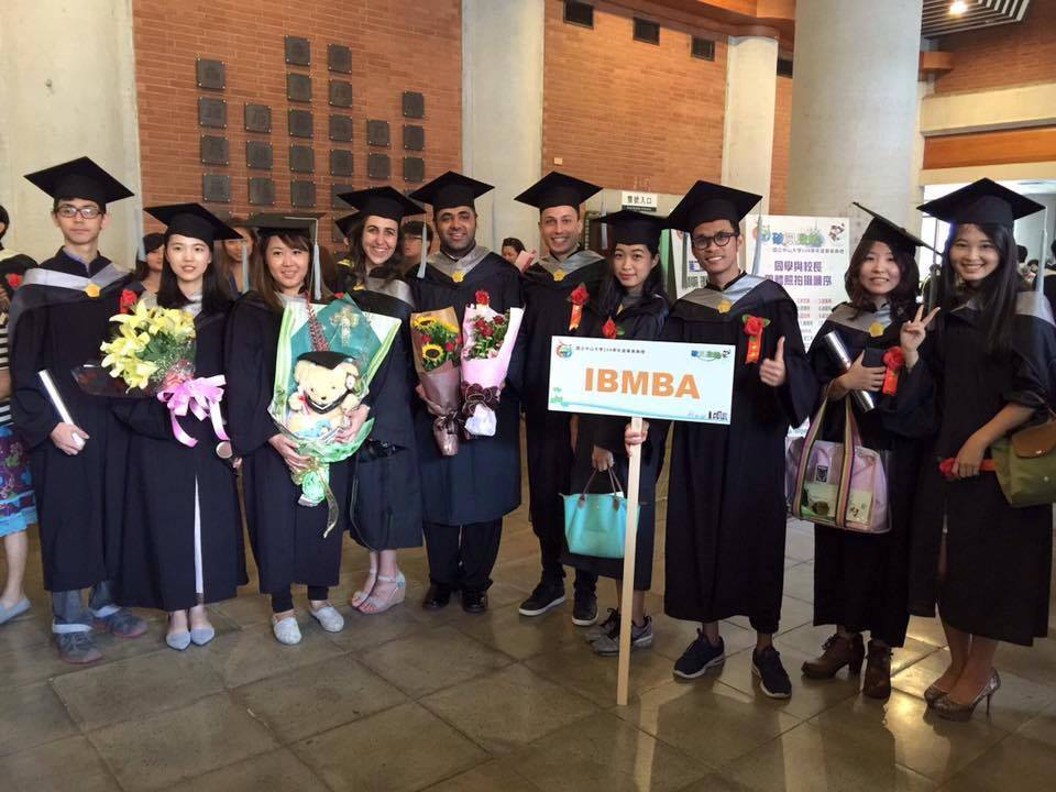 IBMBA graduates posing before entering the hall