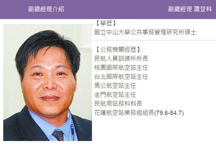 桃園大眾捷運公司副總經理蕭登科接任桃園機場公司總經理。 圖擷自桃捷官網