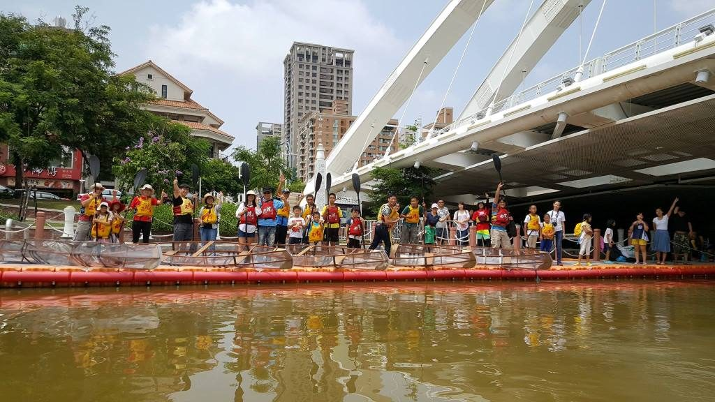 六益木船工作室自力造舟遊愛河營隊