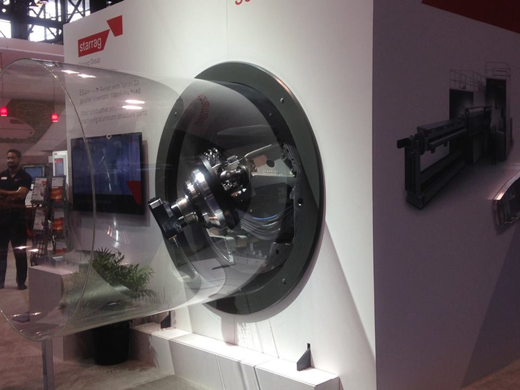另外一台德國機器,專門做航空零件的。這台機器針對鋁製品製造。